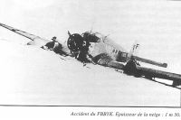 Accident du F-BBYK.Epaisseur de la neige: 1 m 50