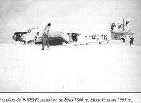 Accident du F-BBYK. Altimètre de bord 1800 m. Mont Ventoux 1909 m