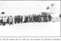 Le fret fut ramené dans la vallée par une trentaine de prisonniers allemands