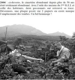 - Récit et photos du poste de Ban-Cao du Cpitaine MATEU 11-cimetiere-2006